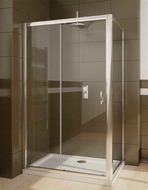 Kabina prysznicowa prostokątna Radaway Premium Plus DWJ+S 100 drzwi x 75 szkło przejrzyste wys. 190 cm. 33303-01-01N/33402-01-01N