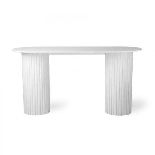 Stolik Pillar owalny biały