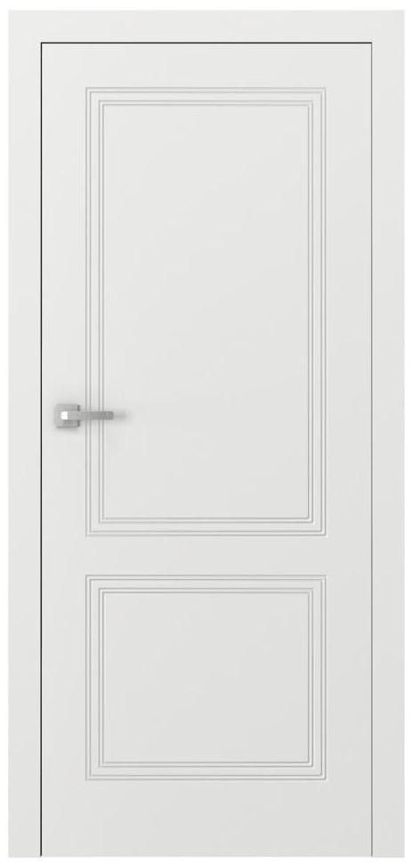 Skrzydło drzwiowe bezprzylgowe z podcięciem wentylacyjnym Vector V Białe 80 Prawe Porta