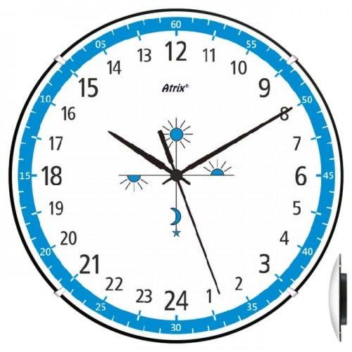 Anty-zegar 24-godzinny convex niebieski