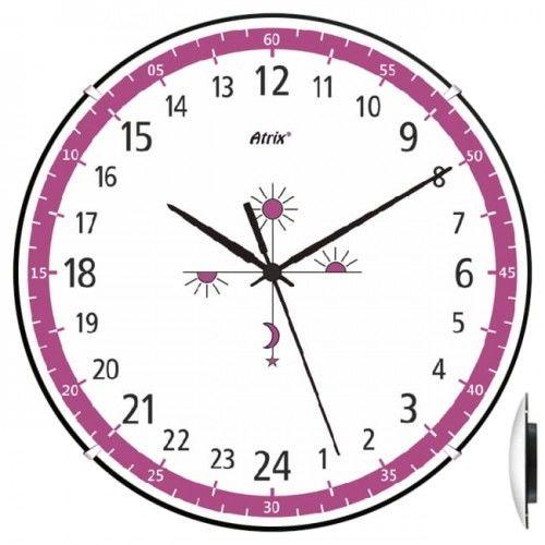 Anty-zegar 24-godzinny convex fiolet