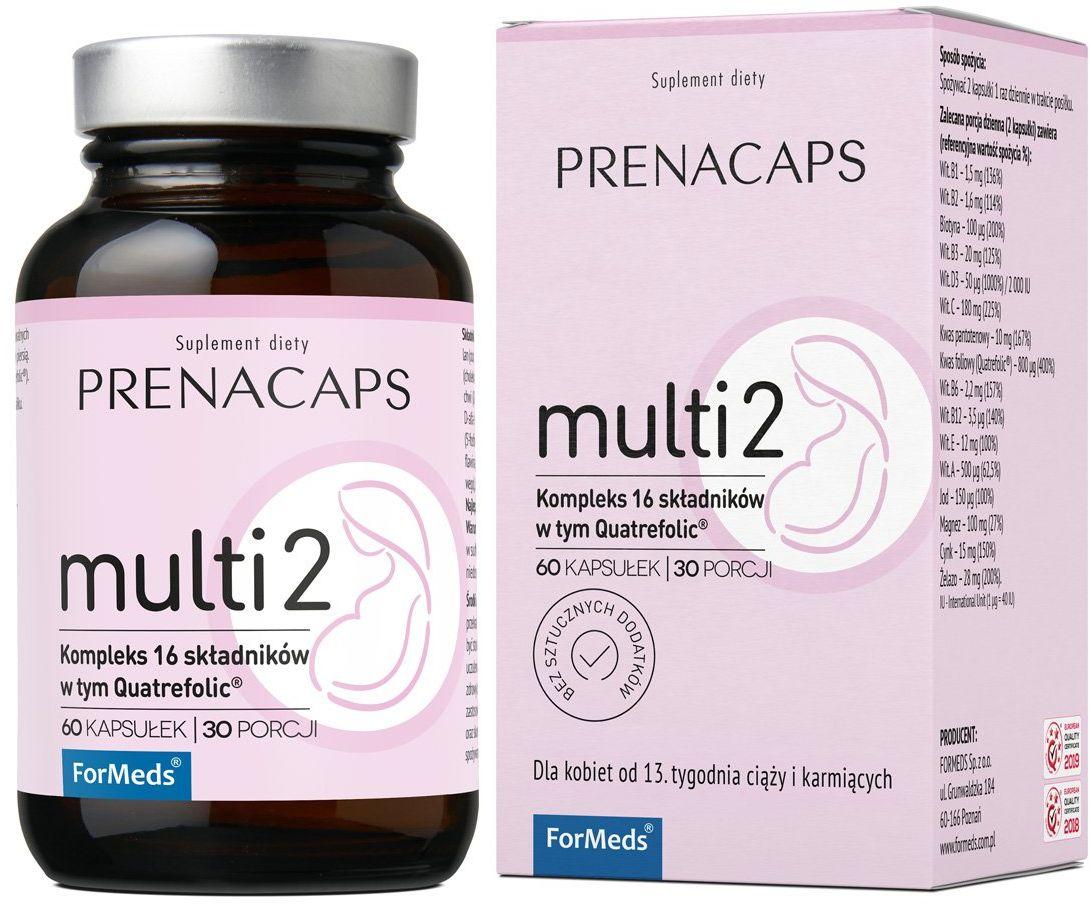 PRENACAPS Multi 2 Kompleks 16 Składników +Quatrefolic (60 kaps) ForMeds