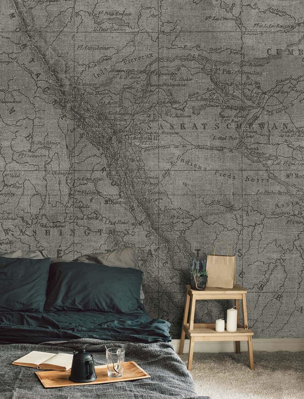 Wall81 The Rockies tapeta tekstylna włókna beżowe S