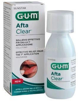 GUM Afta Clear Płyn do płukania na afty i pleśniawki