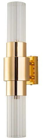 Glass & Brass - Single Tube Wall - kinkiet 45cm