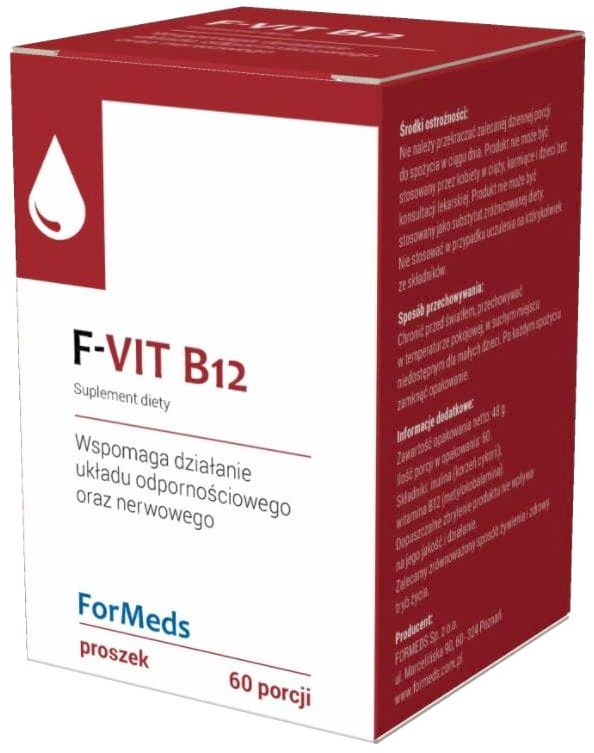 F-VIT B12 Witamina B12 Metylokobalamina 500 mg 48 g (60 porcji) ForMeds
