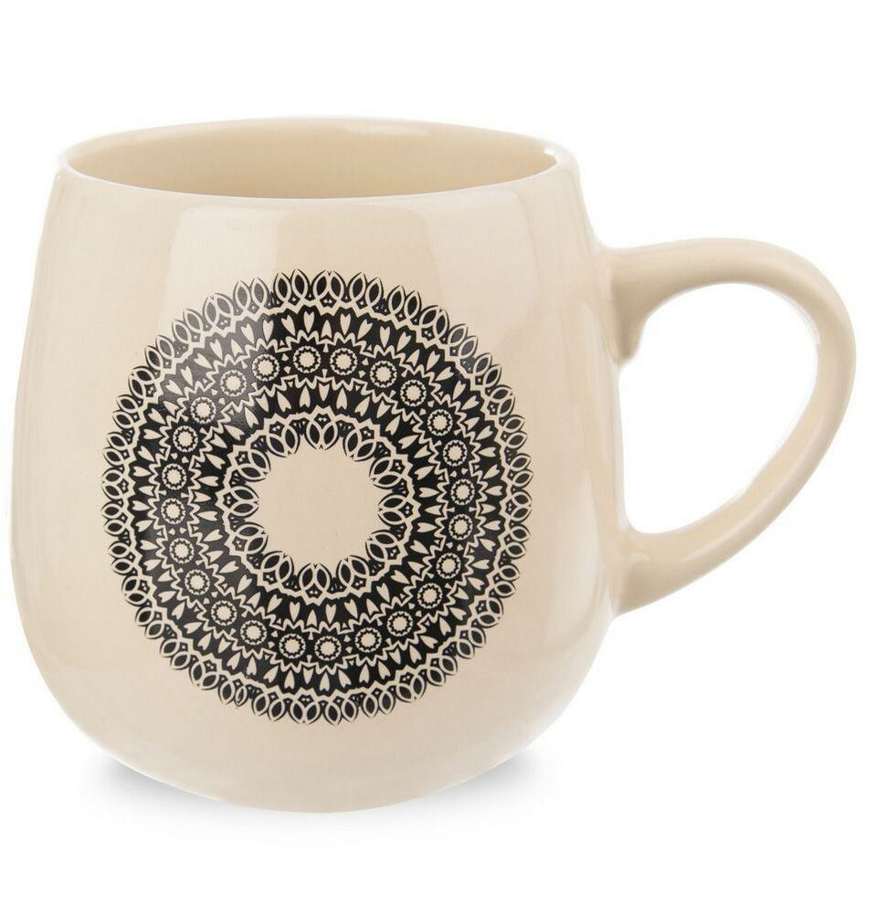 Kubek ceramiczny MANDALA z uchem do kawy herbaty 600 ml