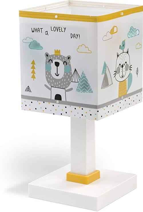 Dalber Hello Little lampa na biurko dla dzieci, wielokolorowa