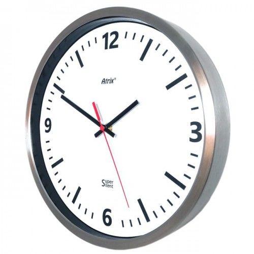 Zegar ze stali nierdzewnej Super Cichy #2 /30cm