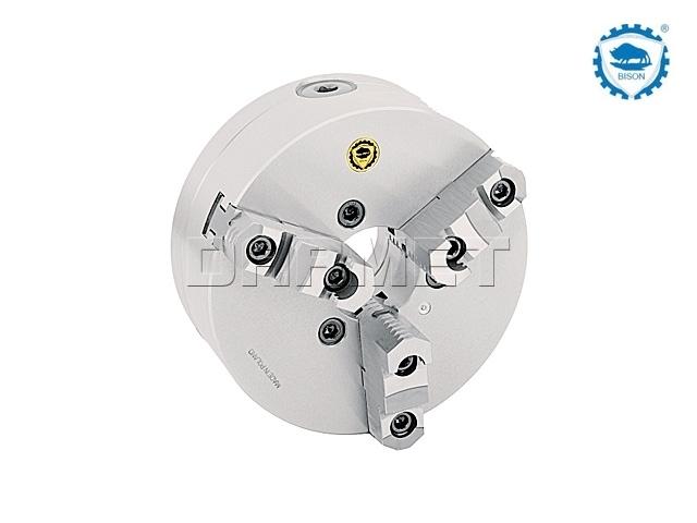 Uchwyt tokarski samocentrujący spiralny, stalowy, 3 - szczękowy: 200 MM (DIN 55027), premium - BISON BIAL (3535-200-6-P)