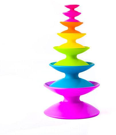 Fat Brain Toys - wieża piramida szpulek Spoolz