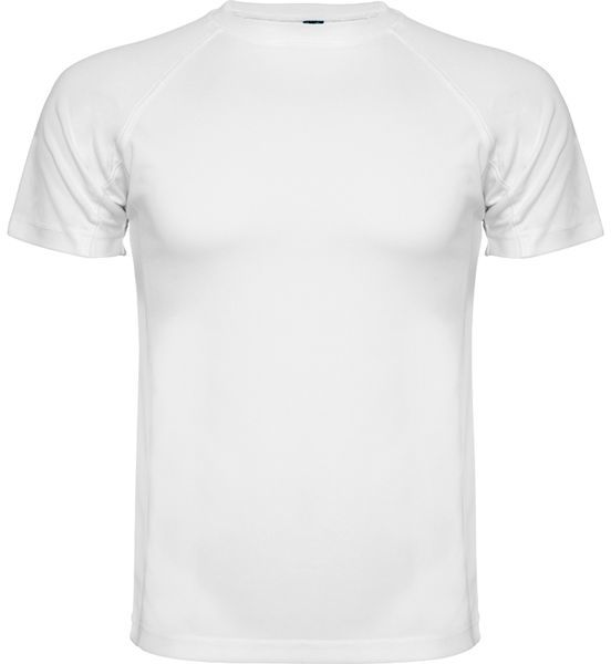 Męska koszulka sportowa z indywidualnym nadrukiem Biała koszulka sportowa męska z indywidualnym nadrukiem