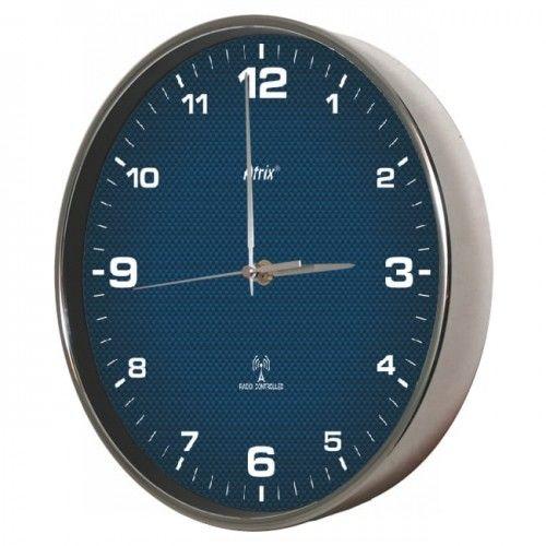 Zegar chromowany sterowany radiowo #4W