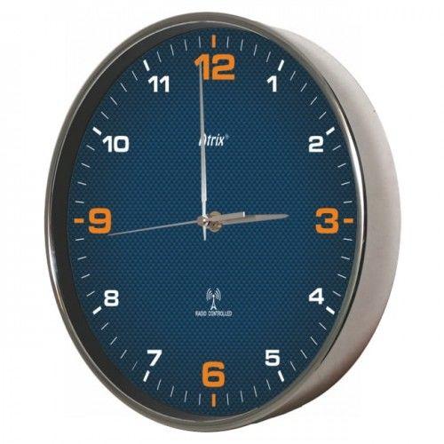 Zegar chromowany sterowany radiowo #4O