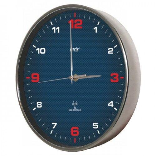 Zegar chromowany sterowany radiowo #4R