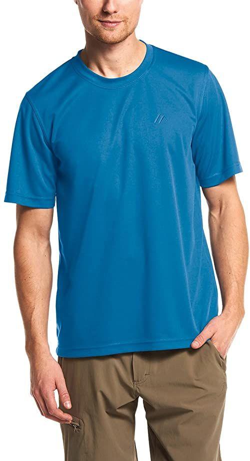 Maier Sports męska koszulka funkcyjna, Walter wykonana w 100% z PES, szybkoschnąca, oddychająca i łatwa w pielęgnacji, męska, 152302, Imperial Blue, XL
