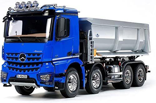 TAMIYA 56366 1:14 RC MB Arocs 4151 wywrotka 8x4, zestaw do montażu, ciężarówka RC, zdalnie sterowany, samochód ciężarowy, zabawka konstrukcyjna, budowa modeli, majsterkowanie