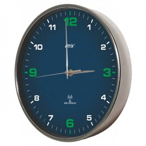 Zegar chromowany sterowany radiowo #4G