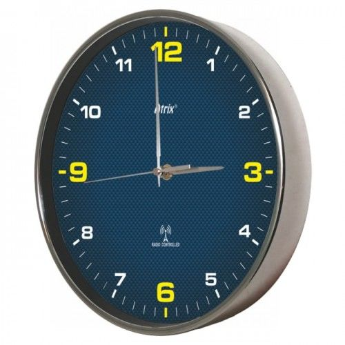 Zegar chromowany sterowany radiowo #4Y