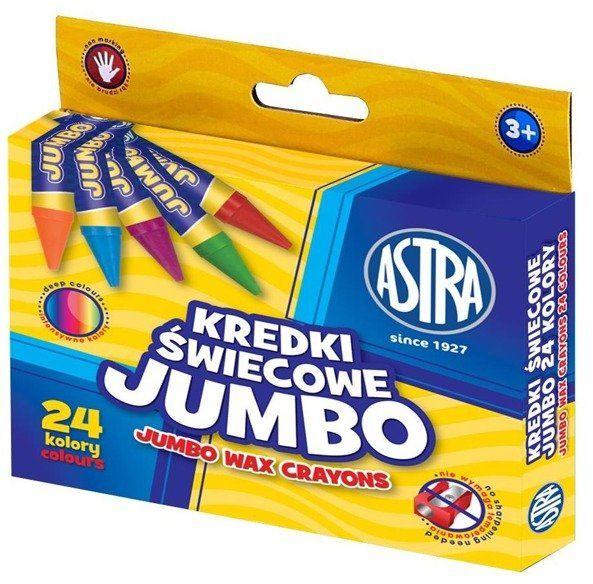 Kredki świecowe Jumbo 24 kolory ASTRA - ASTRA papiernicze