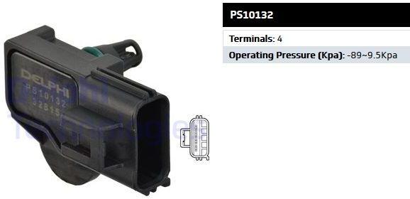 czujnik ciśnienia w kolektorze ssącego 1.8 / 2.0 / 2.3 / 2.5 - Delphi