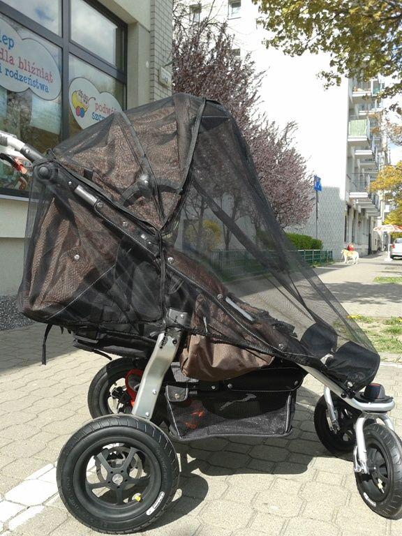 """Moskitiera do wózka podwójnego typu """"podwójna parasolka"""""""