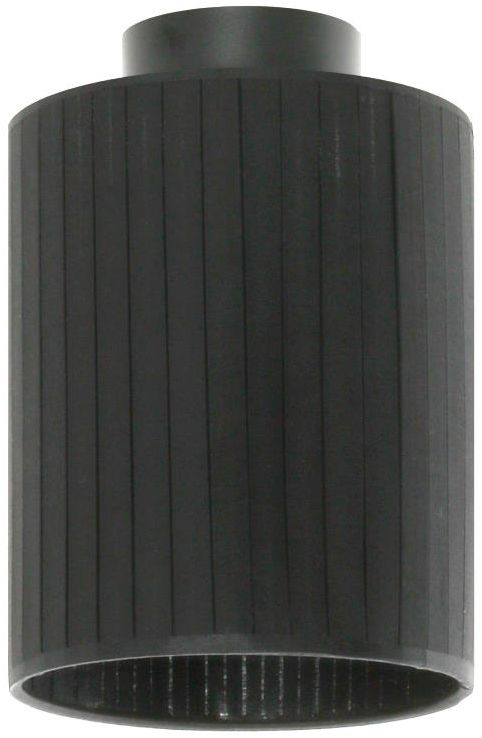 Lampex Rabella B 876/B plafon lampa sufitowa nowoczesna czarny abażur tkanina E27 1x60W 15cm