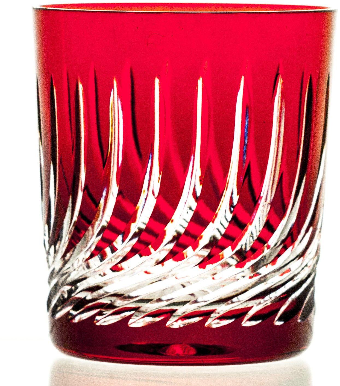 Szklanki kolorowe kryształowe do whisky 6 sztuk (07778)