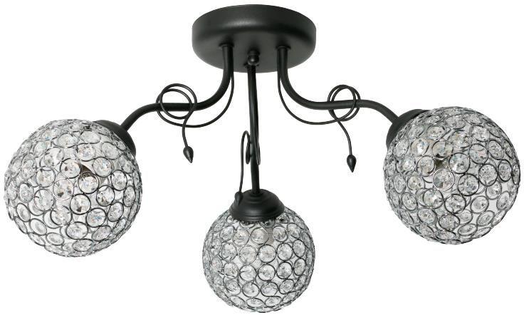 Lampex Sally 3 882/3 plafon lampa sufitowa metal szkło bogato zdobione klosze trzy punkty świetlne E27 3x60W 60cm