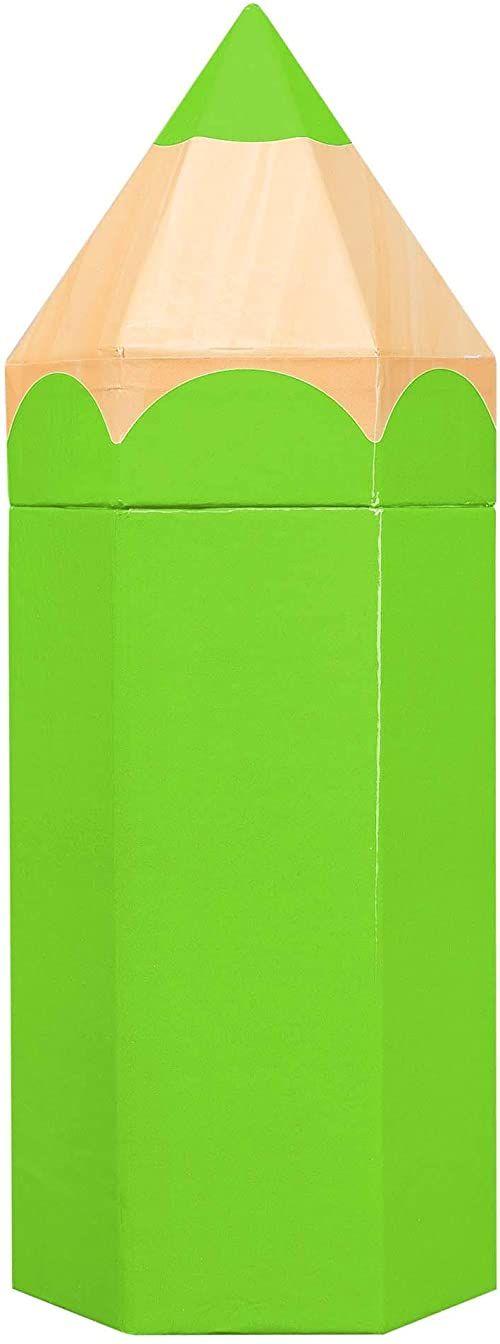 Idena 31490 - pudełko na prezent, rozmiar 10,4 x 9 x 27 cm, zielone, opakowanie na prezent, początek roku szkolnego, pudełko na długopisy, 1. dzień szkolny, pierwszy dzień szkolny