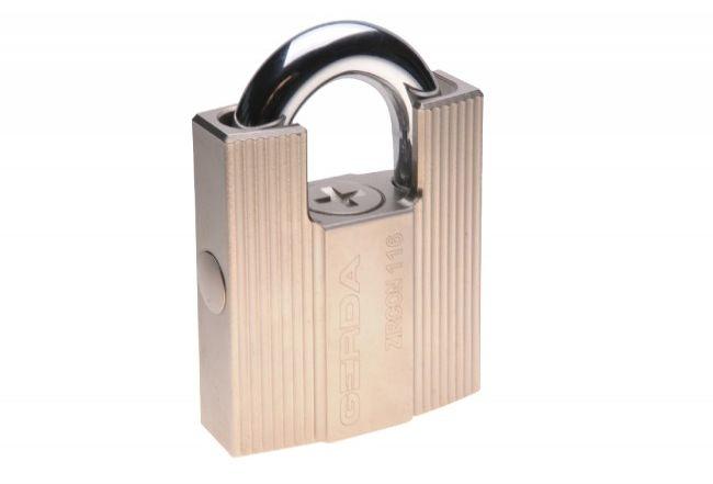Kłódka antywłamaniowa ZIRCON 116 kl.6 z chronionym pałąkiem (3 klucze)