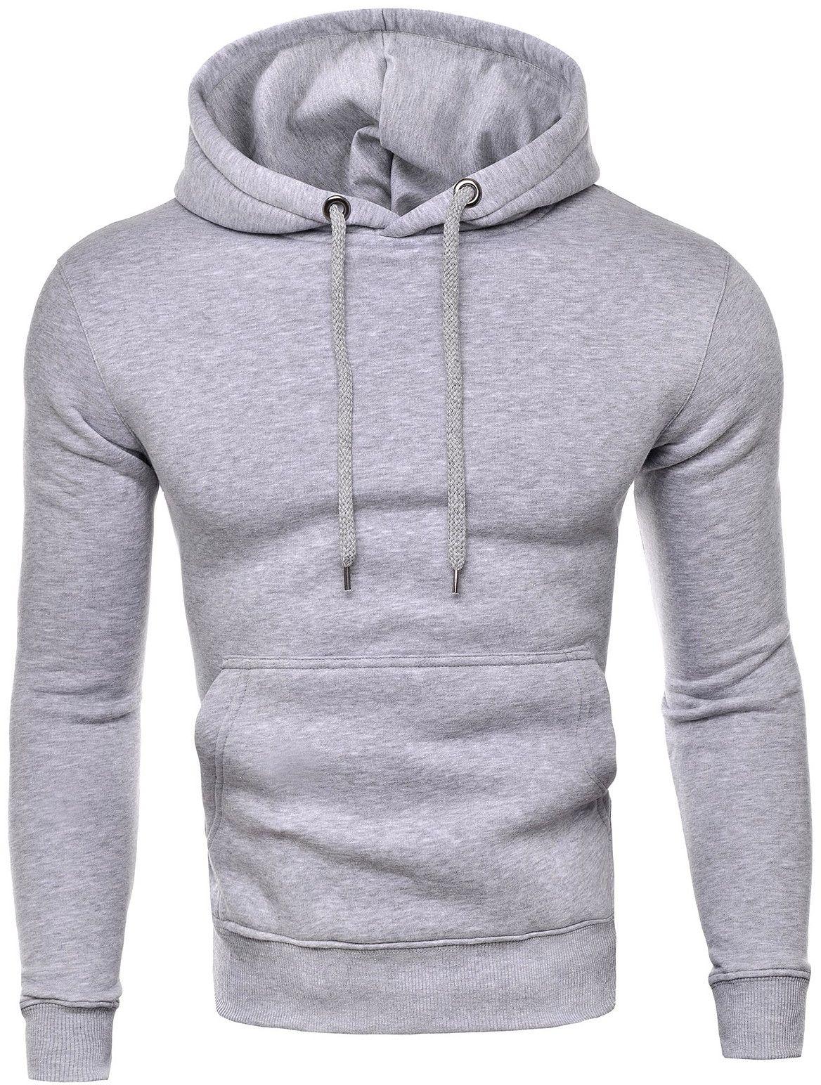 Męska ciepła bluza rdi1911 - szara