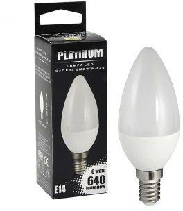 Żarówka POLUX LED 7W gwint E14 640lm ciepła/żółta barwa światła POLUX/SANICO- wysyłka 24h (na stanie 11 sztuk)
