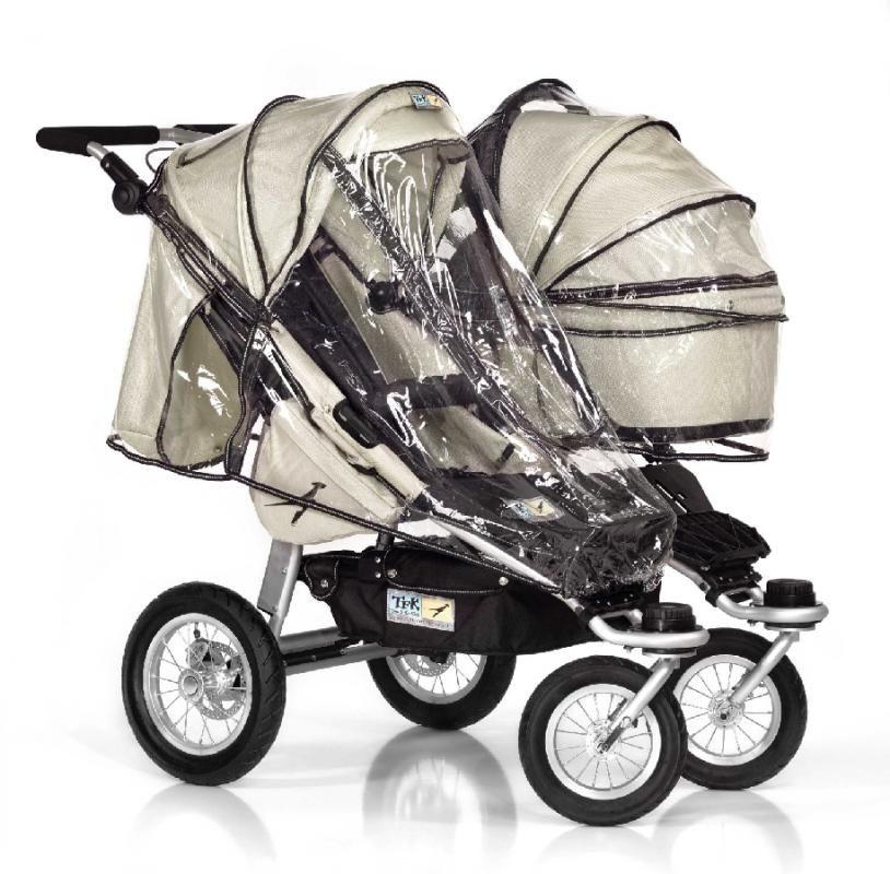 TFK - Osłona (folia) przeciwdeszczowa do 1 siedziska wózka TFK Twin Adventure, Trail, Twinner Twist Duo , Lite
