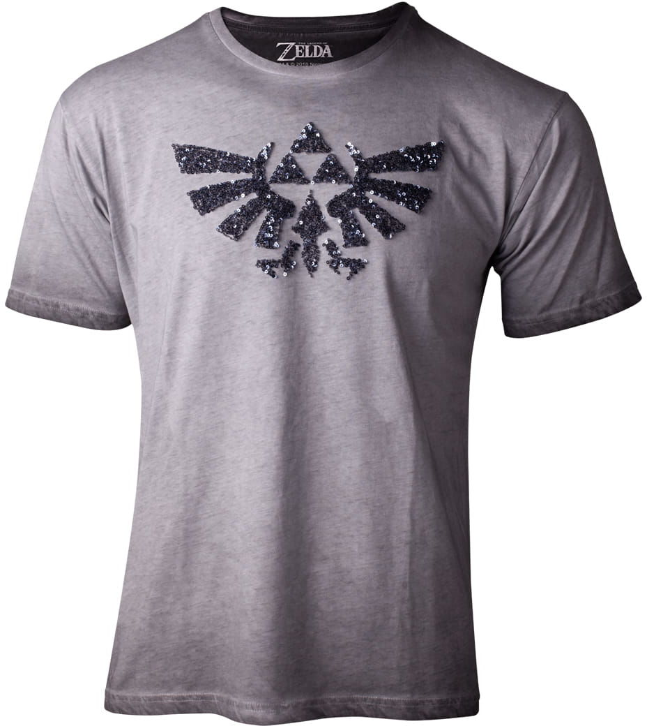 T-shirt Zelda - logo z cekinami - women''s boyfriend