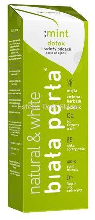 BIAŁA PERŁA Natural Mint Detox - wybielająca pasta do zębów o naturalnych składnikach aktywnych
