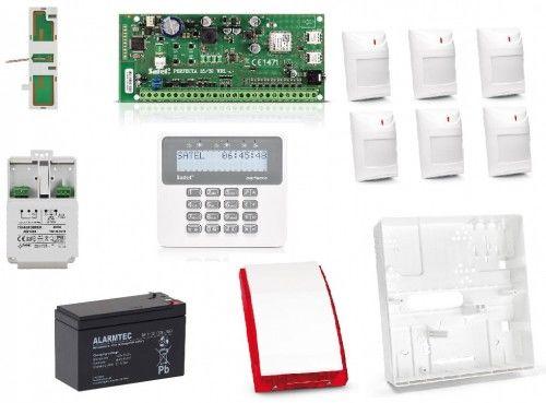 Zestaw alarmowy Perfecta 16 Satel + PRF-LCD + 6x Aqua Plus + Akcesoria