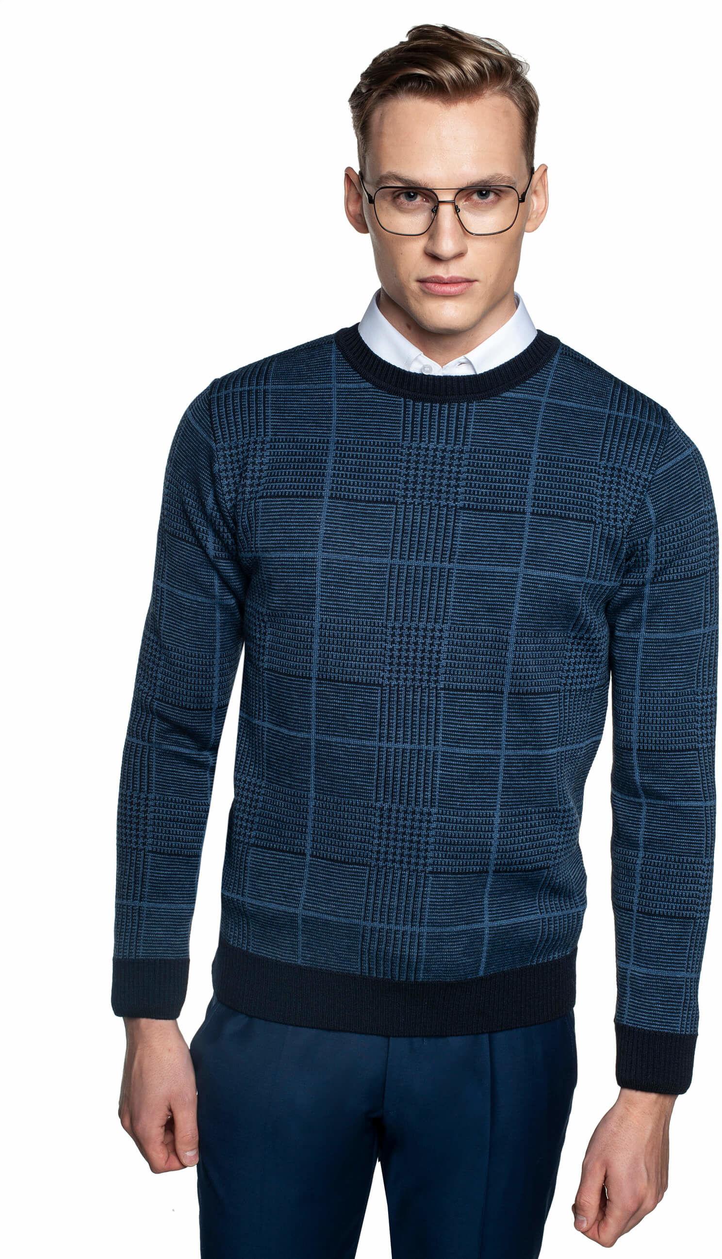 sweter grillons półgolf niebieski
