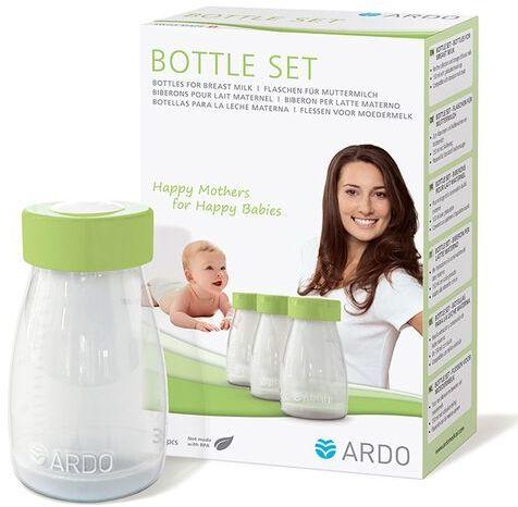 Butelki wielorazowe na pokarm mleko matki Ardo Medical - 3 sztuki po 150 ml
