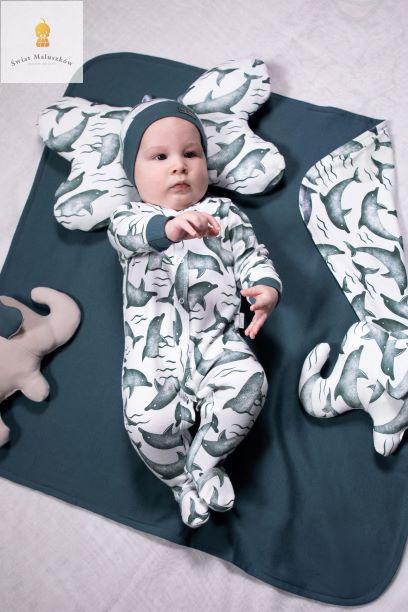 Pajac niemowlęcy Delfiny NICOL r.56-86