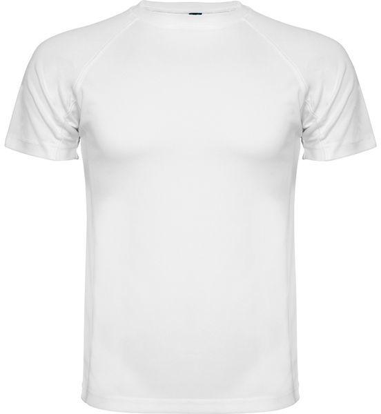 Dziecięca koszulka sportowa z indywidualnym nadrukiem Biała dziecięca koszulka sportowa z indywidualnym nadrukiem