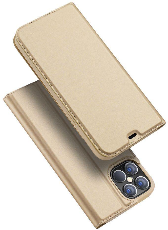 DUX DUCIS Skin Pro kabura etui pokrowiec z klapką iPhone 12 Pro Max złoty