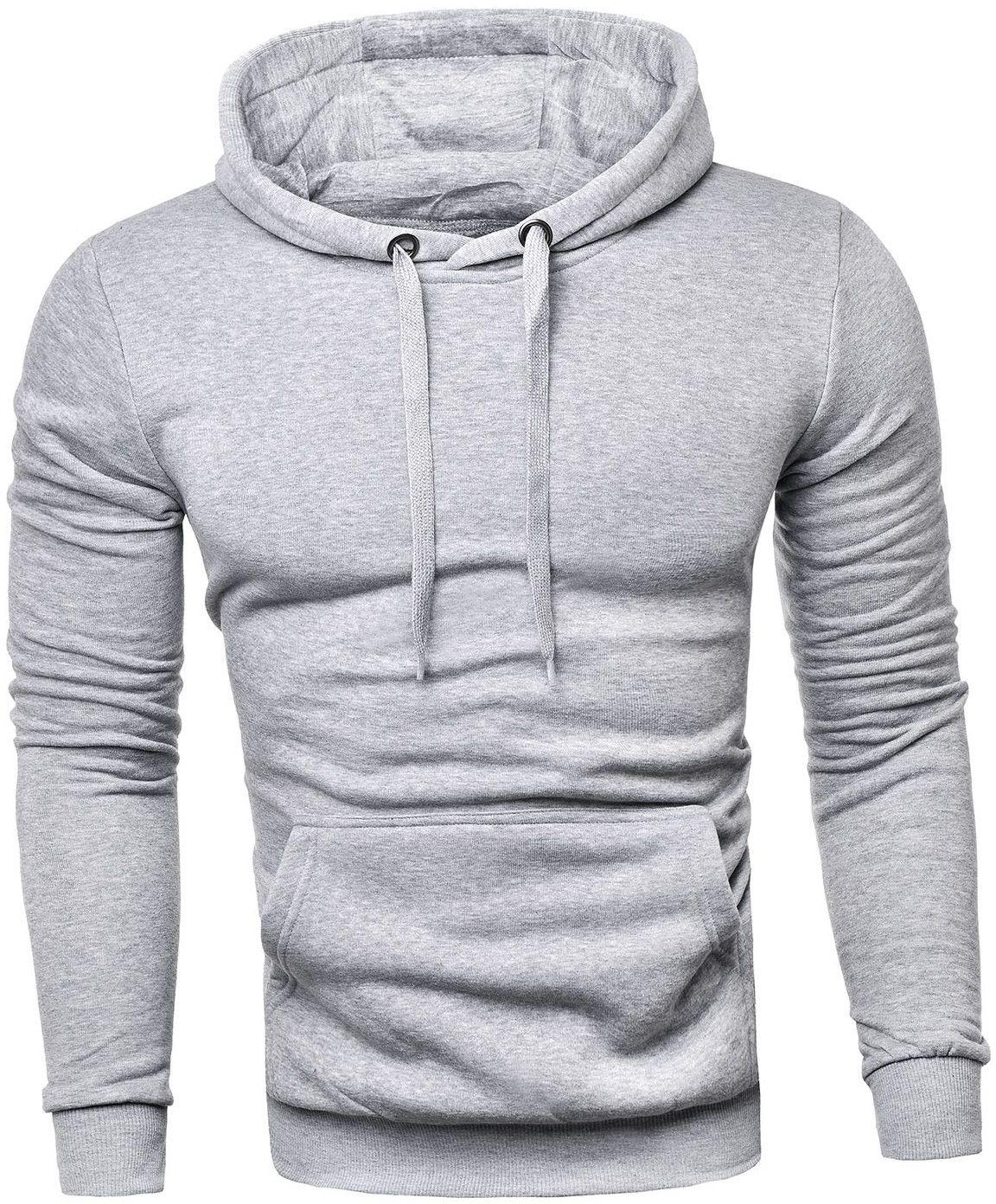 Męska bluza z kapturem sg1 - szara