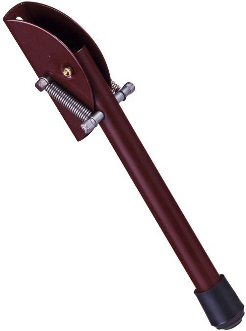 Blokada 200mm przytrzymywacz podpórka drzwi nóżka mała stopka garażowa BRĄZ