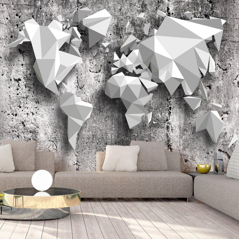 Fototapeta - mapa świata: origami