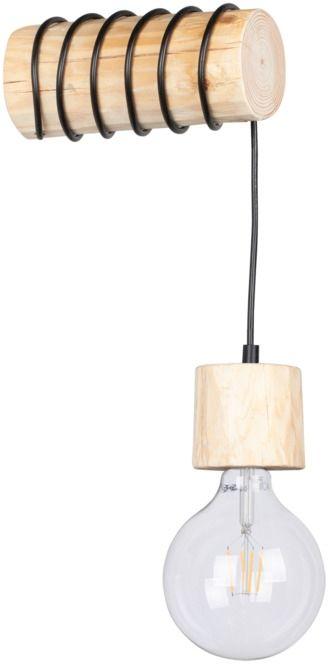 Spot Light 69369150 Trabo Pino kinkiet lampa ścienna drewno sosna naturalna/czarny 1xE27 25W 20cm