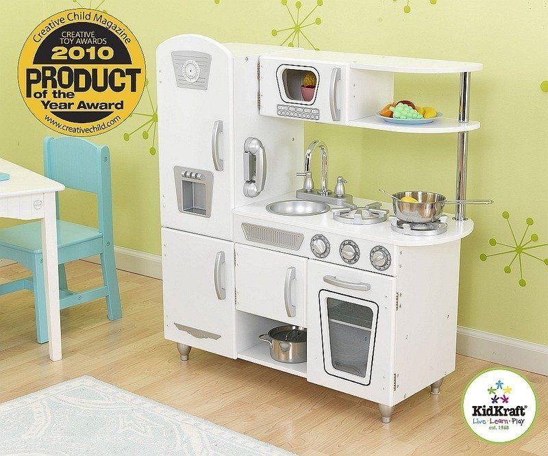 """Kuchnia drewniana, """"Biały vintage"""", KK53208-KidKraft, kuchnie dla dzieci"""