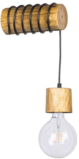 Spot Light 69379151 Trabo Pino kinkiet lampa ścienna drewno sosna bejcowana/ metal czarny 1xE27 25W 20cm
