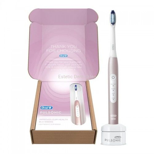 BRAUN Oral-B PULSONIC 4000 Rose Gold - szczoteczka soniczna Oral-B
