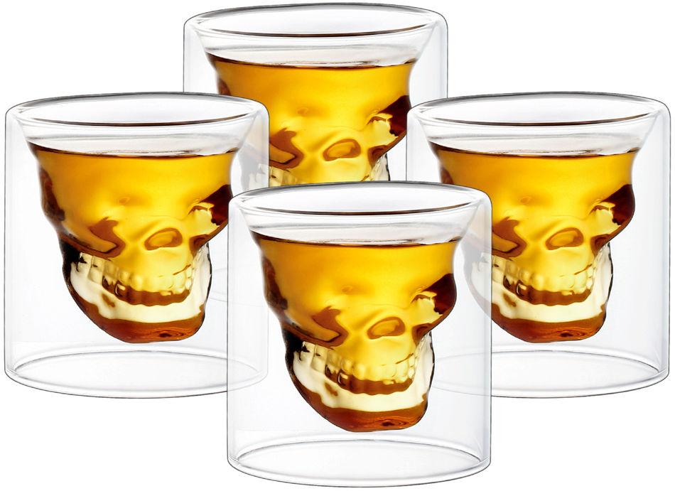 4home Kieliszek do wódki Skull Hot&Cool, 20 ml, 4 szt.